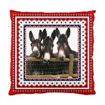 Three donks Cushion Case (One Side)
