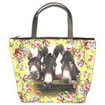 Three donks Bucket Bag