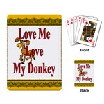 Love my donkey Playing Cards Single Design