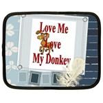 Love my donkey Netbook Case (Large)