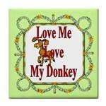 Love my donkey Face Towel