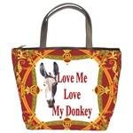 Love my donkey 2 Bucket Bag