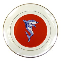 Shark Porcelain Plate by zooicidal