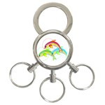 Cute Kittens 3-Ring Key Chain