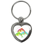 Cute Kittens Key Chain (Heart)