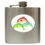 Cute Kittens Hip Flask (6 oz)