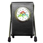 Cute Kittens Pen Holder Desk Clock