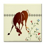 Bowing horse Tile Coaster