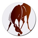 Bowing horse Round Mousepad