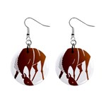 Bowing horse 1  Button Earrings