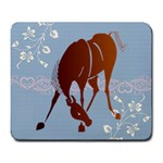 Bowing horse Large Mousepad
