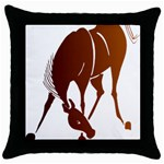 Bowing horse Throw Pillow Case (Black)