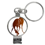 Bowing horse Nail Clippers Key Chain
