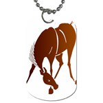 Bowing horse Dog Tag (One Side)