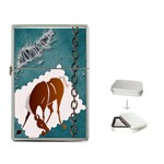 Bowing horse Flip Top Lighter