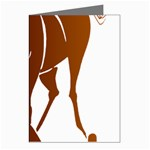 Bowing horse Greeting Card
