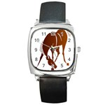 Bowing horse Square Metal Watch