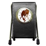 Bowing horse Pen Holder Desk Clock