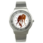 Bowing horse Stainless Steel Watch