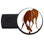 Bowing horse USB Flash Drive Round (4 GB)