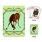 Bowing horse Playing Cards Single Design