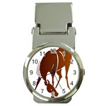 Bowing horse Money Clip Watch