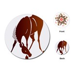 Bowing horse Playing Cards (Round)