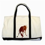 Bowing horse Two Tone Tote Bag