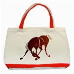 Bowing horse Classic Tote Bag (Red)