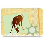 Bowing horse Large Doormat