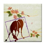 Bowing horse Face Towel