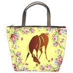 Bowing horse Bucket Bag
