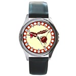 Braying donkey Round Metal Watch