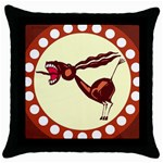Braying donkey Throw Pillow Case (Black)