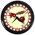 Braying donkey Wall Clock (Black)