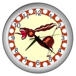 Braying donkey Wall Clock (Silver)