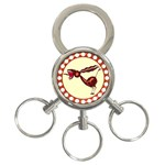 Braying donkey 3-Ring Key Chain