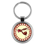 Braying donkey Key Chain (Round)