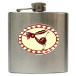 Braying donkey Hip Flask (6 oz)