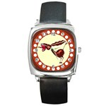 Braying donkey Square Metal Watch