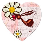 Braying donkey Jigsaw Puzzle (Heart)