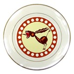 Braying donkey Porcelain Plate