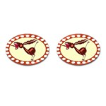 Braying donkey Cufflinks (Oval)