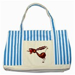 Braying donkey Striped Blue Tote Bag