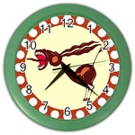 Braying donkey Color Wall Clock