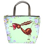 Braying donkey Bucket Bag