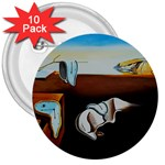persistance of memory 3  Button (10 pack)