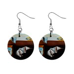 persistance of memory 1  Button Earrings