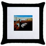 persistance of memory Throw Pillow Case (Black)