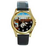 persistance of memory Round Gold Metal Watch